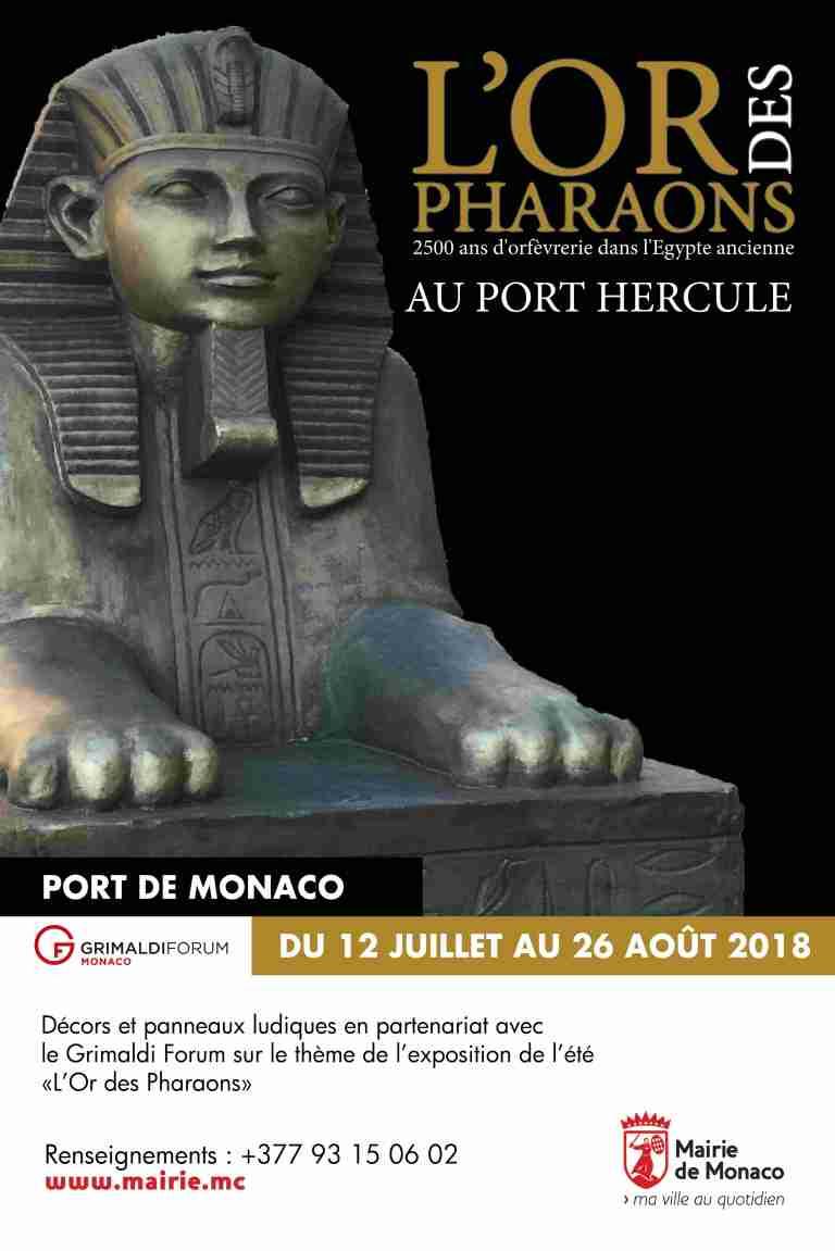 Visuel L'Or des Pharaons au Port Hercule
