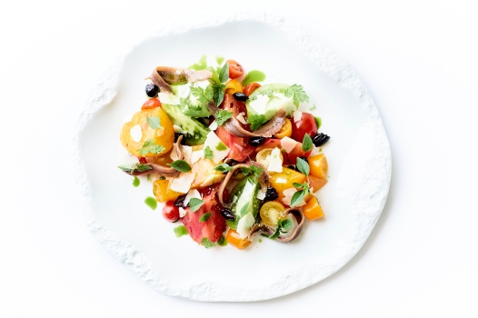 GHF Dish Tomato and Anchovies Salad Riviera Style