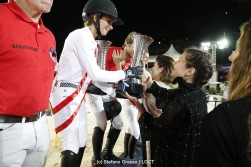 LGCT of Monaco - Pro Am Cup - Charlotte Casiraghi presents the trophy to the winning team - Monaco, Port Hercule, 29 June 2018 - ph.Stefano Grasso/LGCT