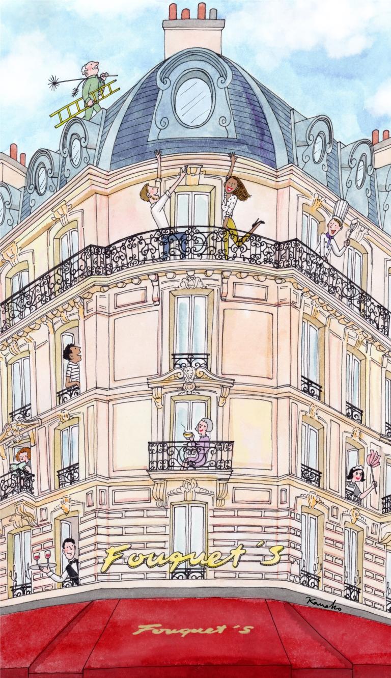 Illustration Oeuf de Pâques Fouquet's OK