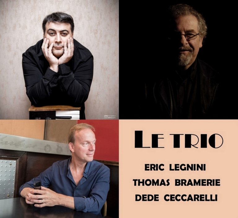 Print Jazz Entrevoux HD Le Trio, Eric LEGNINI, Thomas BRAMERIE, DŽdŽ CECCARELLI