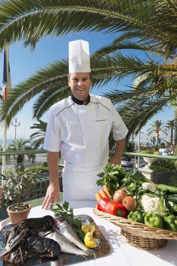 Chef Tanguy L'Yvonnet - Restaurant Le Siècle - Hôtel West End Nice - Photo Hughes Lagarde