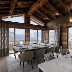 Ultima Courchevel Dining Room view