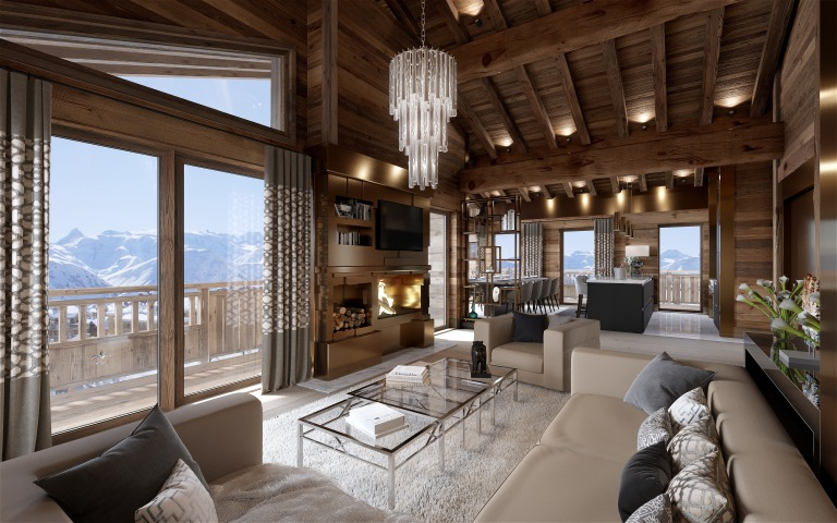 Ultima Courchevel Livinr Room 3