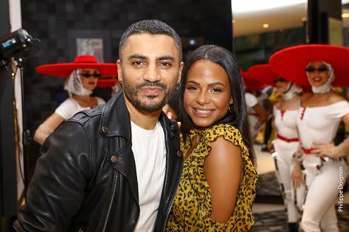 Christina Milian et hakim ghorab au casa fashion show. Casablanca, MAROC - 12/10/2019